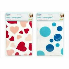 First Steps Baby Changing Mat 67 X 47CM Lightweight Pink Hearts or BLue Spot