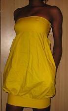 NWT ZARA BRIGHT YELLOW NEON TULIP BUBBLE BANDEAU DRESS XS EXTRA SMALL 6 2 34