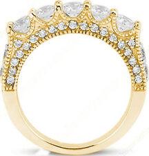 Anniversary 14K Yellow Gold Band Vs clarity 1.89 ct 5 Round Diamond Wedding Ring