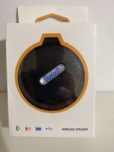 Waterproof Wireless Bluetooth Speaker Black  NEW - Open Box