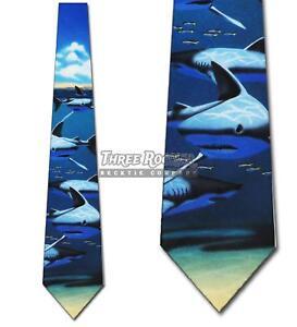 Shark Tie Mens Animal Sharks Necktie Fish Neck Ties NWT