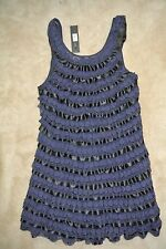 MARC BY MARC JACOBS - Ribbons Laces Bouquet Shift NAVY Dress size 12 L $595 NEW