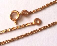 FRENCH 1970s WOMEN ANKLET CHAIN~ 18K GOLD PLATED~SNAIL LINKS~ MADE IN FRANCE~NEW