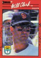 1990 Donruss Learning Series Baseball #23 Will Clark San Francisco Giants
