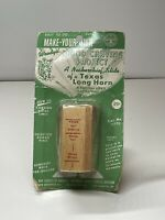 Vintage BSA Boy Scouts Texas Longhorn  Wood Carving Kit Neckerchief Slide NEW!