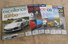 EXCELLENCE Porsche Magazine 7 Issues DEC 2013 FEB MAY JUN AUG OCT NOV 2014