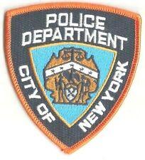 POLICE DEPARTMENT New York Etats Unis écusson à coudre brodé 8.5x9.5 cm