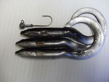 NEW BLACK SILVER 15CM SAVAGE GEAR REAL EEL LURE + JIGG PIKE PERCH ZANDER FISHING