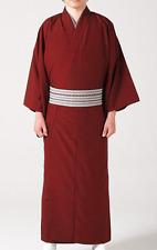 Giapponese Uomo Tradizionale Tsumugi Hitoe Kimono Poliestere Rosso Da Giappone