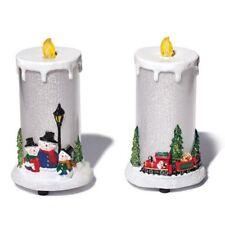 Avon Holiday Light Up Led Candle Caroling Snowmen or Santa's Train
