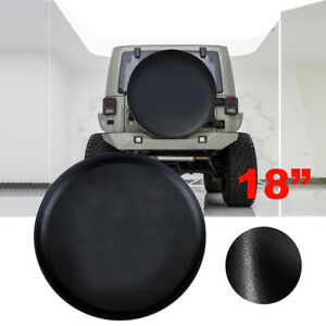 """Spare Tire Cover For Jeep WRANGLER 18inch Leather Black Wheel Tire Cover 33-35"""""""