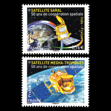 France 2015 - Satellites - Joint Issue with India Space - Sc 4798/9 MNH