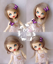 "5-6"" 14cm BJD fabric fur wig Light Tawny for AE PukiFee lati 1/8 Doll"