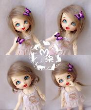 "3-4"" 9-10cm BJD fabric fur wig Light Tawny for AE PukiFee lati 1/12 Doll"