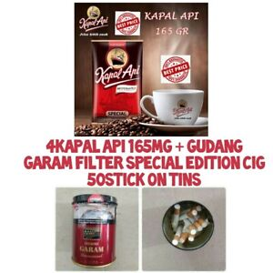 Kapal api ground coffee 165gr 4x + 50stick cig limited edition