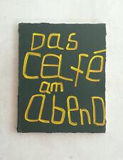 """Abstrakte Malerei Bild van Goghs """"Das Cafe am Abend"""" Grafik Typo Schrift"""
