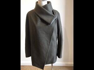ALL SAINTS Womens Khaki Contrast Coat - SIZE UK 10