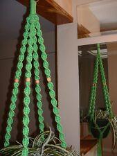 Macrame Plant Hanger  PARROT 4  BEADS