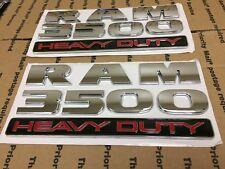 NEW DODGE SET OF 2 RAM 3500 HEAVY DUTY TRUCK DOOR FENDER TAILGATE LOGO CHROME 2X