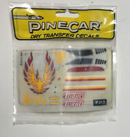 Vintage Pinecar Dry Transfer Decals Turbo Firebird 1990 P313