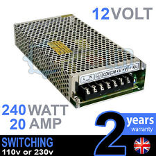 12v Dc 240 W 20a 230v 110v Switching Power Supply Para Tira De Led Controlador Cctv