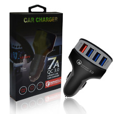 SUPER FAST 7A USB 12v In CAR Charger Adapter for iOS Android DASH CAM & GPS