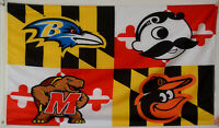 Baltimore Ravens Baltimore Orioles Natty Boh Maryland Terrapins Flag US shipper