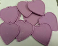 Lilac Violet Lavender Heart Shaped Plastic Balloon Weights Valentines Wedding