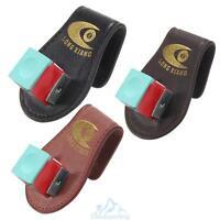 Pool Billiards Snooker Leather Magnetic Belt Clip Chalk Holder