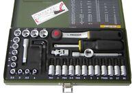 Proxxon Feinmechaniker-Steckschlüsselsatz 36-teilig mit 1/4'' Ratsche 23080 NEU