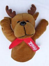 Coca-Cola Plush Reindeer Hand Glove Puppet Stuffed Soft Toy Coke UK British NEW