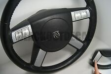 Dodge Charger / Chrysler 300 SILVER Carbon Fiber Steering Wheel Decal Cover
