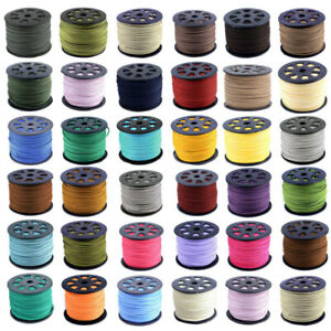 3mm Leather Suede Cord Beading Thread Lace String Jewelry Making DIY 90m/Roll