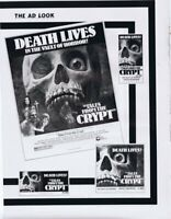 Tales From the Crypt 1972 ORIGINAL Vintage 9x12 Industry Ad Peter Cushing