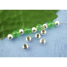 300 Smooth Round Silver Plated Metal Spacer Beads Jewellery Making 5mm (025)
