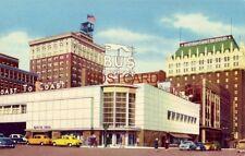 18th and Farnam, Omaha, Nebraska Greyhound Bus Depot and Hotel Fontenelle