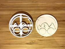 Harry Potter-inspired round face Plastic Cookie Cutter Topper Fondant uk seller