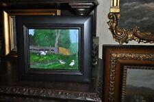 Vintage Farm Animal   Beautiful  Oil  Painting