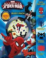 Spider-Man Busy Pack - Wipe Clean Scenes , Stickers , Bookmark , Colour In Pages