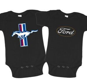 Ford Mustang Baby Clothes Cute One Piece Romper Baby Suit Black Tee Gifts