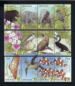 Grenada 1999 Sc#2850a-k  Stamp Expo-Wildlife/Birds & Marine Life  MNH Set $8.75