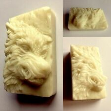 WOLF SILICONE SOAP MOLD BAR clay wax resin plaster WEREWOLF