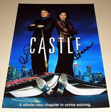 "CASTLE CASTX2 PP SIGNED 12""X8"" POSTER NATHAN FILLION"