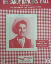 Vintage THE CANDY DANCERS BALL words TENNESSEE ERNIE cowboy  MUSIC SHEET 1952