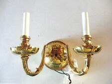Nulco 1752 Sheraton Wall Sconce Light Solid Cast Brass Polished Brass Finish