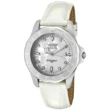 INVICTA WHITE MOP DIAL DATE WHITE LEATHER STRAP WR50M LADIES WATCH 0003 NEW