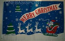 3'x5' Merry Christmas Flag Santa Claus Reindeer Sled Outdoor Banner Huge New 3X5