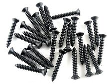 "Ford Truck Black #10 x 1-1/4"" Phillips Oval Trim Head Screws- #8 Hd- 25 pcs #304"