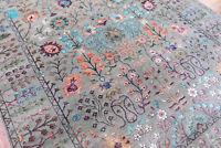 Neutral Oushak Larisa wool & Bamboo Silk Handmade Oriental Area Rugs & Carpet