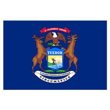 3x5 Michigan State Flag State of Michigan Premium Banner FAST USA SHIPPING